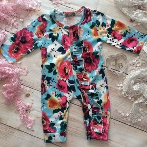 Other - Boutique Baby Girl Floral Romper